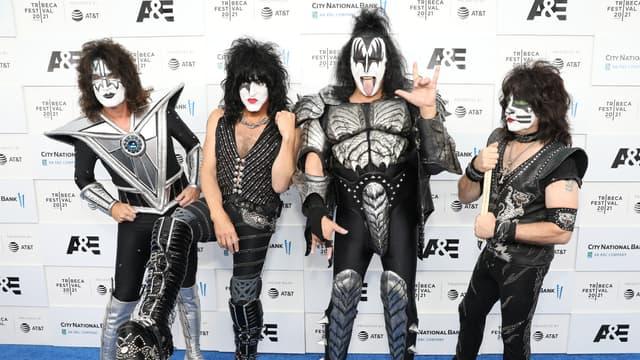 Le groupe Kiss en juin 2021 au festival de Tribeca