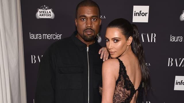 Kanye West et Kim Kardashian le 9 septembre 2016