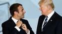 Emmanuel Macron et Donald Trump, le 7 juillet 2017, à Hambourg.