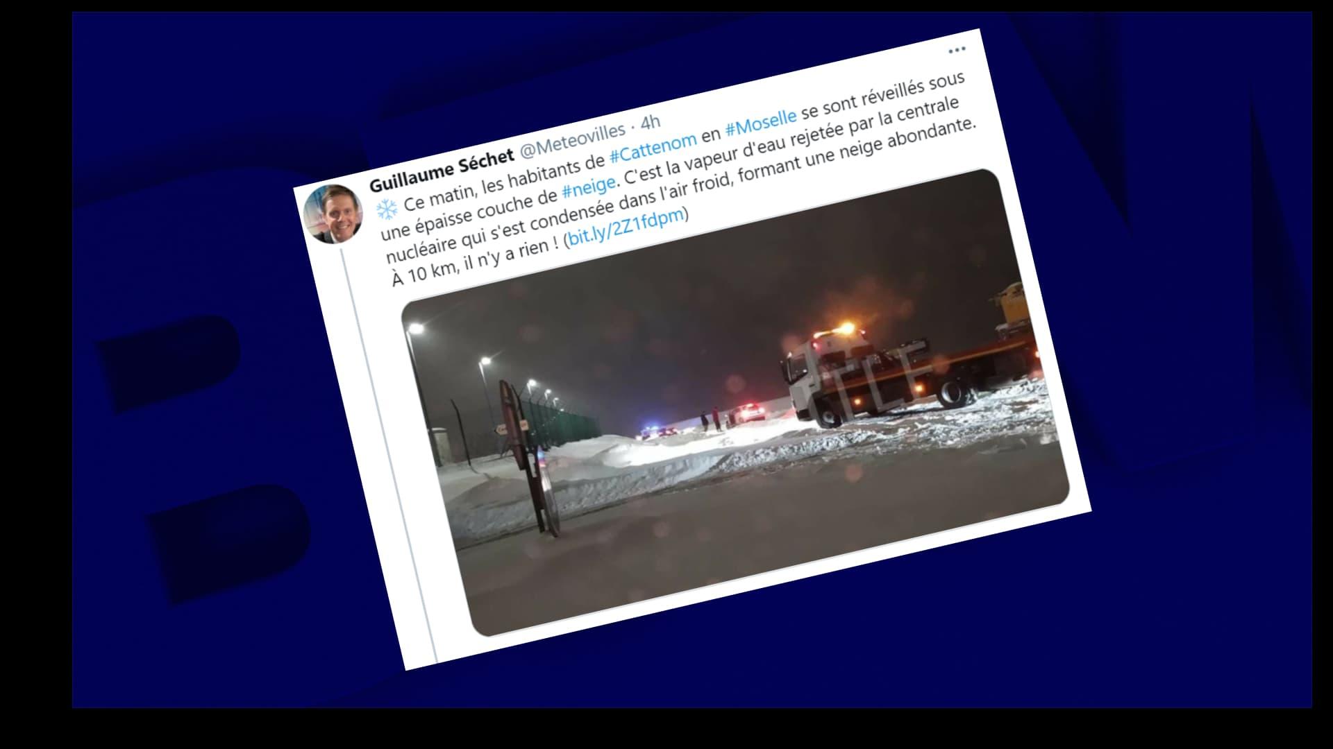 Moselle: un phénomène de neige industrielle observé autour d'une centrale nucléaire - BFMTV