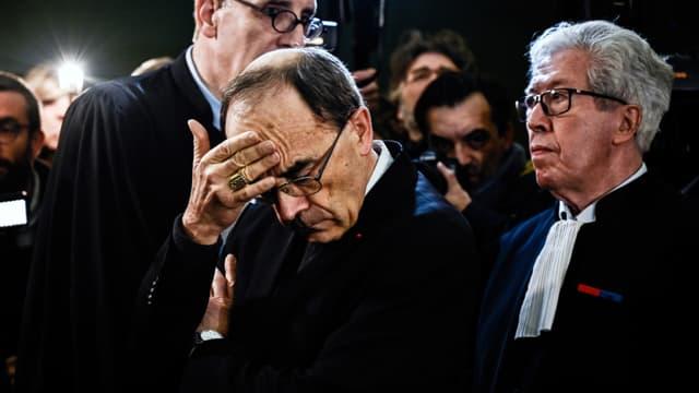 Philippe Barbarin lors de l'ouverture de son procès devant le tribunal correctionnel de Lyon le 7 janvier 2019.