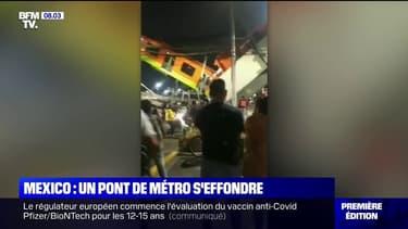Un pont du métro aérien de Mexico s'effondre et fait au moins 13 morts