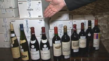 Quelques bouteilles de la cave de Matignon qui ont été proposées aux enchères