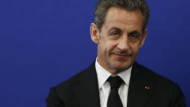Nicolas Sarkozy le 10 mars 2014 à l'inauguration de l'institut Claude-Pompidou, à Nice.