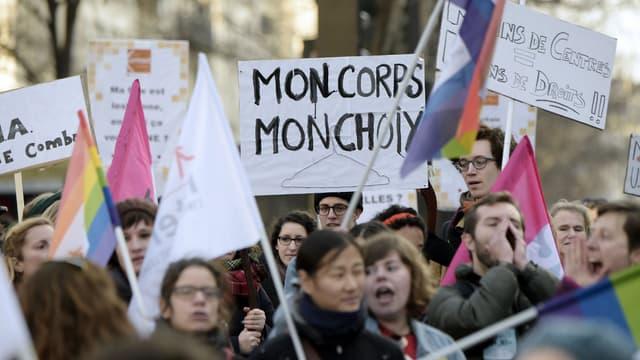 Une manifestation pour la défense des droits des femmes en janvier 2015