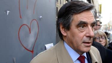François Fillon le 11 février à Saint-Etienne pour soutenir le candidat UMP-UDI.