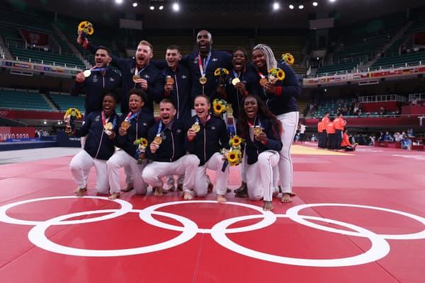 La France championne olympique en judo par équipes