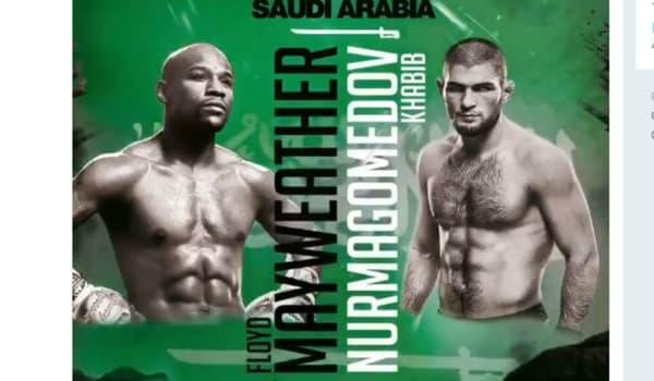 L'affiche du combat Khabib-Mayweather qui aurait pu avoir lieu en janvier 2020