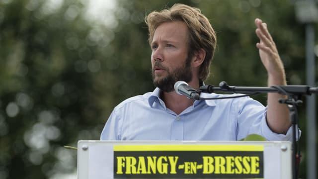 Le député PS des Landes Boris Vallaud lors de la Fête de la Rose à Frangy-en-Bresse, le 27 août 2017