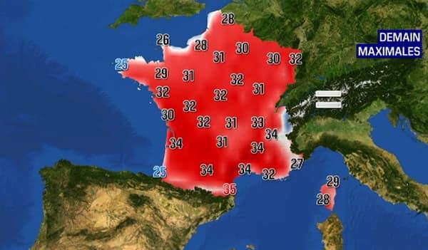 De fortes températures sont attendues mardi 15 juin