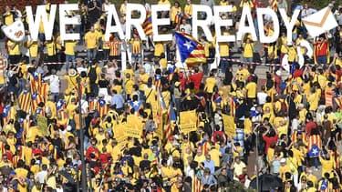 Des milliers de manifestants s'étaient retrouvés dans les rues de la Catalogne pour défendre l'indépendance de la région