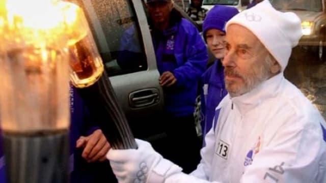 Mike Fremont, porteur de la flamme olympique en 2012