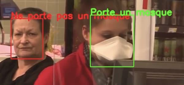 La solution de détection de masque de Datakalab.