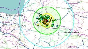Tremblement de terre dans le secteur de Lourdes (BCSF)