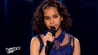 Jane lors de la finale de The Voice Kids sur TF1