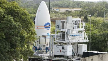 La navette IXV avant son lancement en Guyane.