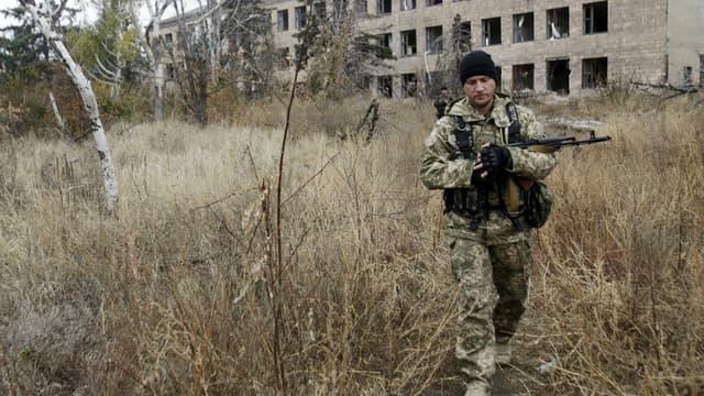 Un soldat ukrainien près de Donetsk (image d'illustration)