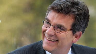 Arnaud Monetbourg s'en est pris à BNP Paribas et Société Générale, ce jeudi 5 septembre au Bourget.