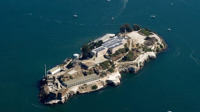 Vue aérienne de la prison d'Alcatraz