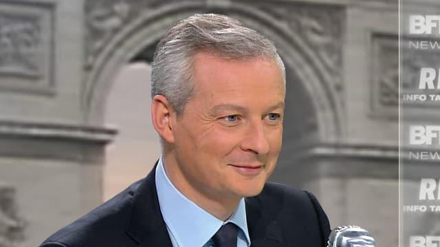 Le député Bruno Le Maire sur le plateau de BFMTV-RMC, jeudi 19 novembre 2015.
