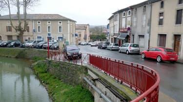 Le centre de Trèbes, dans l'Aude, le 24 mars 2018