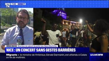 """Concert à Nice: la préfecture rappelle que des """"messages audio et vidéo"""" sur les gestes barrières étaient diffusés"""