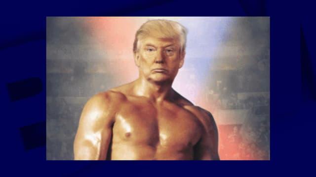 Le montage publié par donald Trump - Image d'illustration