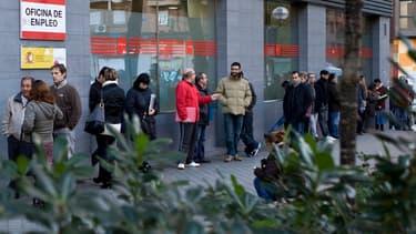 Plus d'un actif sur 5 est au chômage en Espagne.
