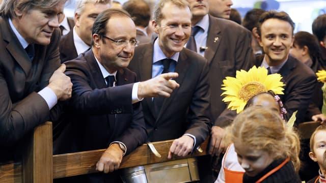 François Hollande au Salon de l'Agriculture 2012 en compagnie de son ministre de l'Agriculture Stéphane Le Foll