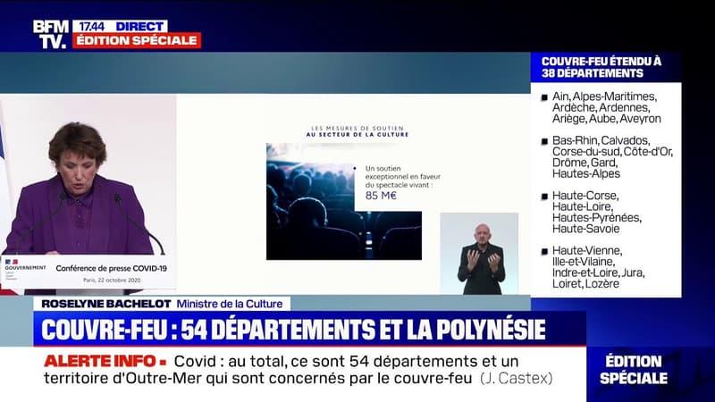 """Roselyne Bachelot: """"Les fonds de sauvegarde et de compensation seront dotés de 55 millions d'euros complémentaires"""" pour le spectacle vivant musical"""