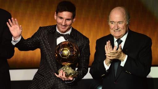 Lionel Messi, l'Argentin du FC Barcelone, a remporté son quatrième Ballon dor a seulement 25 ans