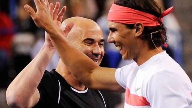 Andre Agassi et Rafael Nadal