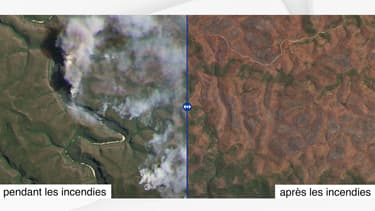 Photo aérienne des Montagnes bleues, en Nouvelles-Galles du Sud.