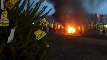 Des gilets jaunes, le soir du réveillon de Noël
