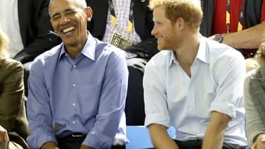 Barack Obama et le Prince Harry aux Invictus Games le 29 septembre 2017 à Toronto