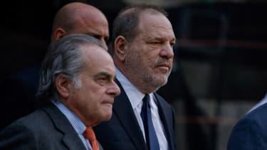 Harvey Weinstein et son avocat Benjamin Brafman.