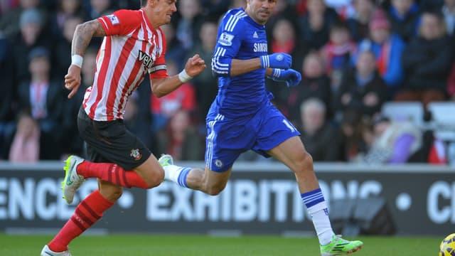 Après l'ouverture du score d'Oscar, Diego Costa a inscrit le deuxième but de Chelsea face à Newcastle