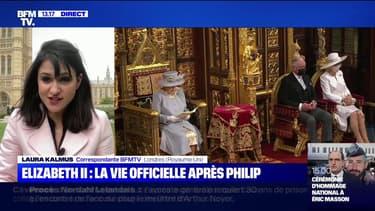 La reine Elizabeth II a prononcé le discours du Trône au Parlement à Londres