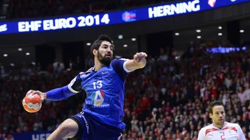 Nikola Karabatić lors de la finale de l'Euro le 26 janvier 2014.