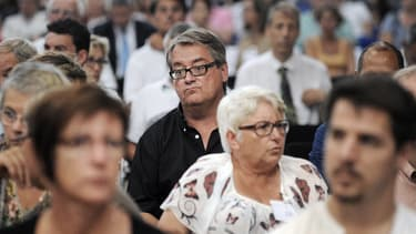 Renaud Pitoit, président de l'association des victimes de Xynthia, sur le banc des parties civiles.