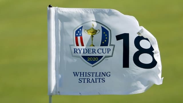 La 43e édition de la Ryder Cup 2020 a été reportée d'un an, doit se dérouler sur le parcours de Whistling Straits, dans le Wisconsin (ici le trou N.18 le 22 septembre 2021)