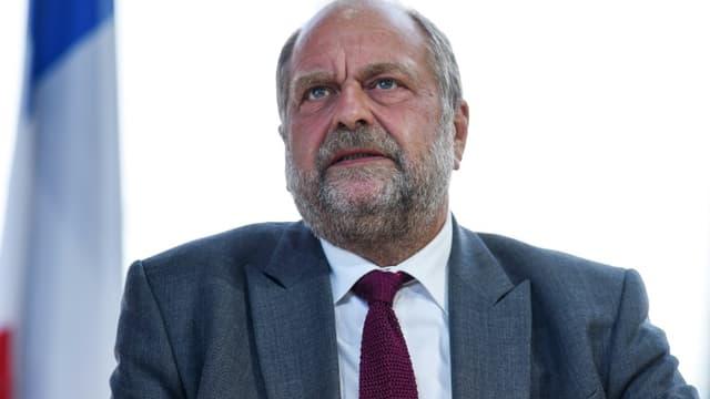 Le ministre de la Justice Eric Dupond-Moretti à Paris le 25 août 2021