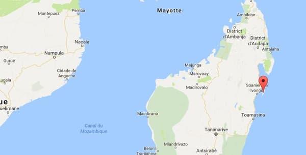 Sainte-Marie se situe au large de Madagascar, au nord-est de l'île. C'est là que les corps de deux Français ont été retrouvés dimanche matin.