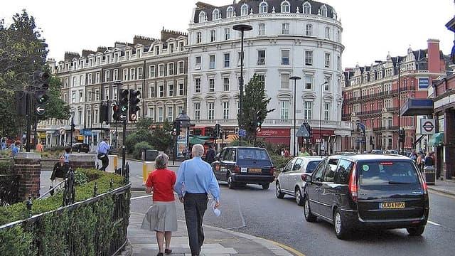 """Le quartier de South Kensington, à Londres, surnommé """"la petite France""""."""