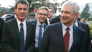 Manuel Valls et Claude Bartolone à Noisy-le-Grand.