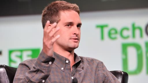 Evan Spiegel, PDG de Snapchat.