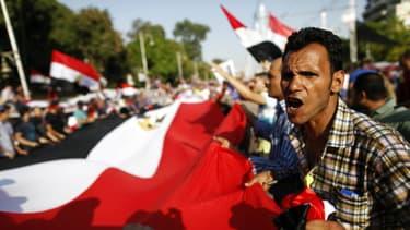Des manifestants réclamant le départ de Morsi, il y a quelques jours.