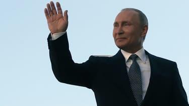 Vladimir Poutine lors de son investiture, le 7 mai 2018 au Kremlin à Moscou (Russie)
