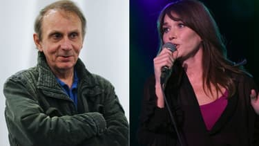 Michel Houellebecq et Carla Bruni