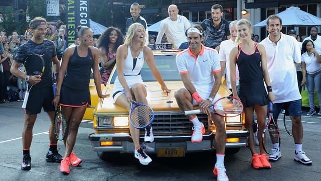 Les stars du tennis de l'équipementier Nike réunies à New York